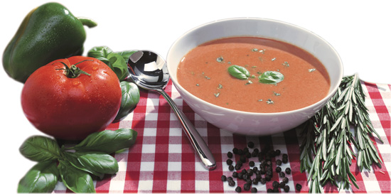 herbalife tomato soup in a bowl