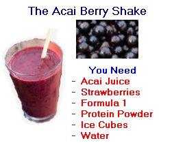 acai berry shake