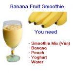 banana fruit smoothie