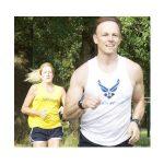male or female running