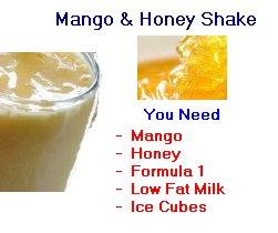 mango honey shake