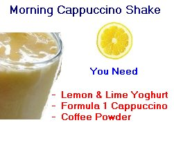 morning cappuccino shake