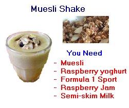 muesli shake