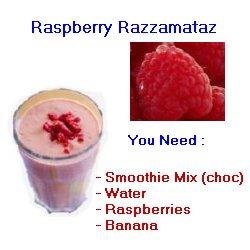 raspberry water shake
