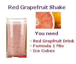 red grapefruit coffee shake