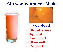 Herbalife strawberry apricot shake