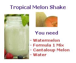 tropical melon shake
