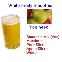 white fruity smoothie